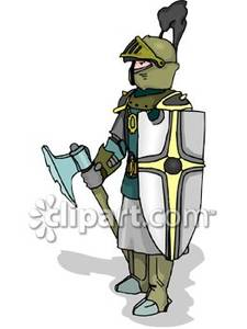 A medieval carrying shield. Battle clipart knight battle