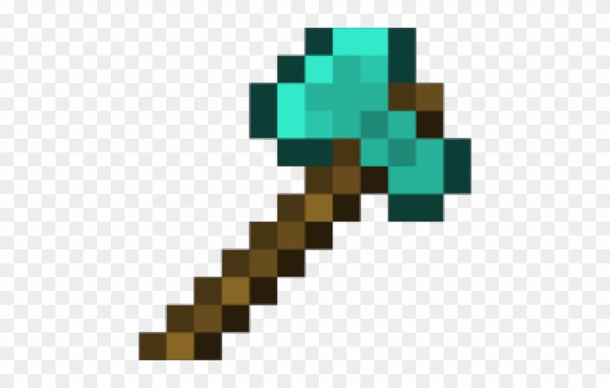 Diamond double sided . Minecraft clipart minecraft axe