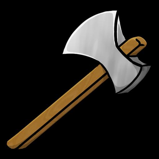 Minecraft iron axe icon. Ax clipart kid