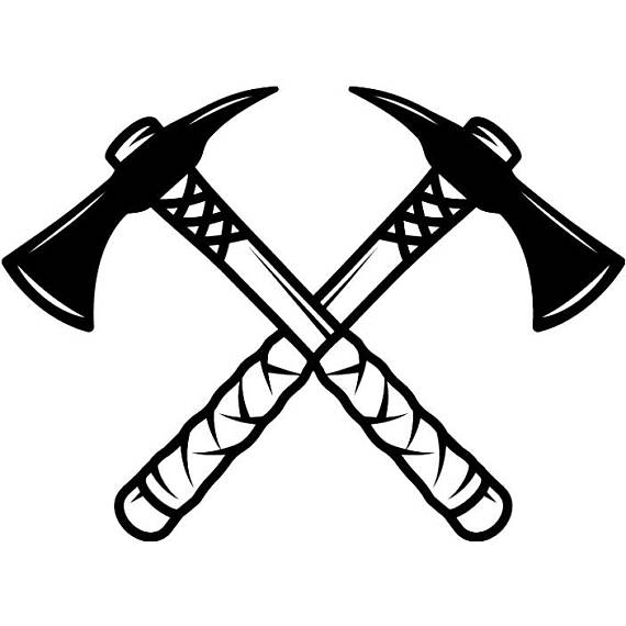 Indian tomahawk axes crossed. Axe clipart native american