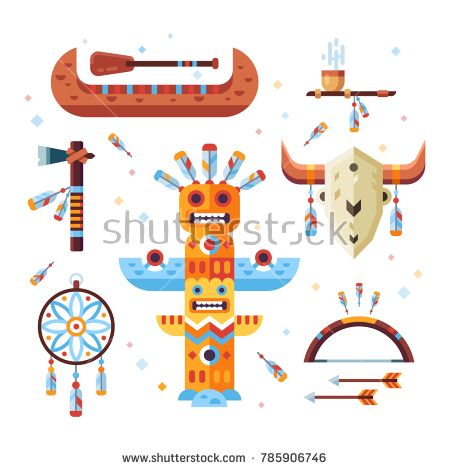 Axe clipart native american. Set of indian designed