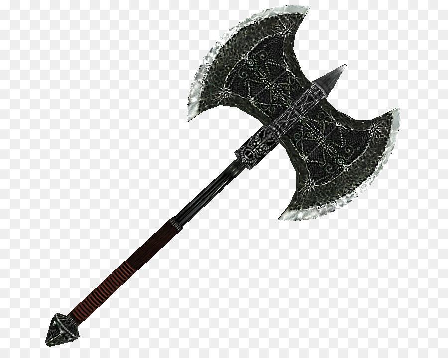The elder scrolls v. Axe clipart silver axe