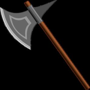 Weapon panda free images. Axe clipart silver axe