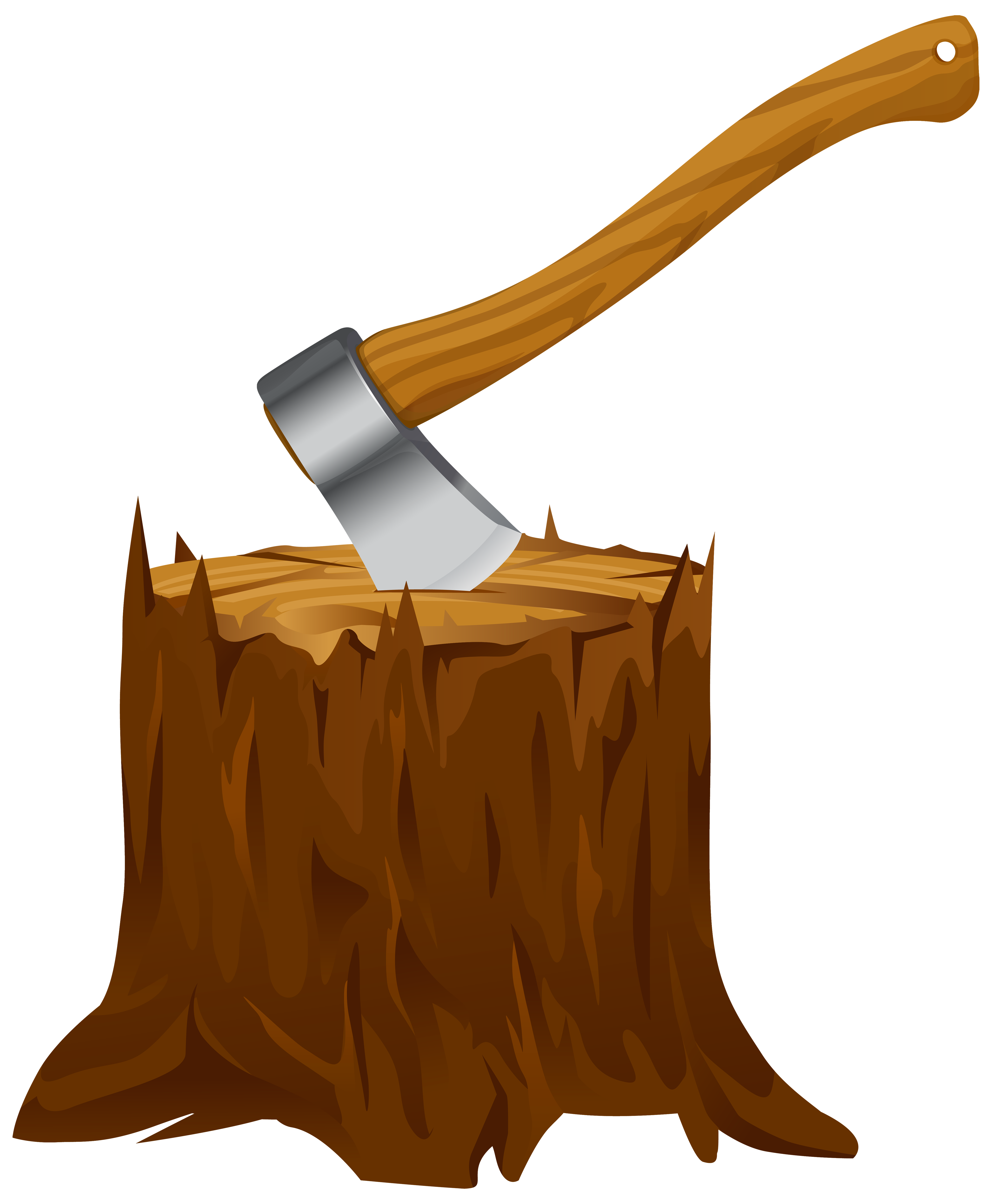 Tree stump with png. Ax clipart axe