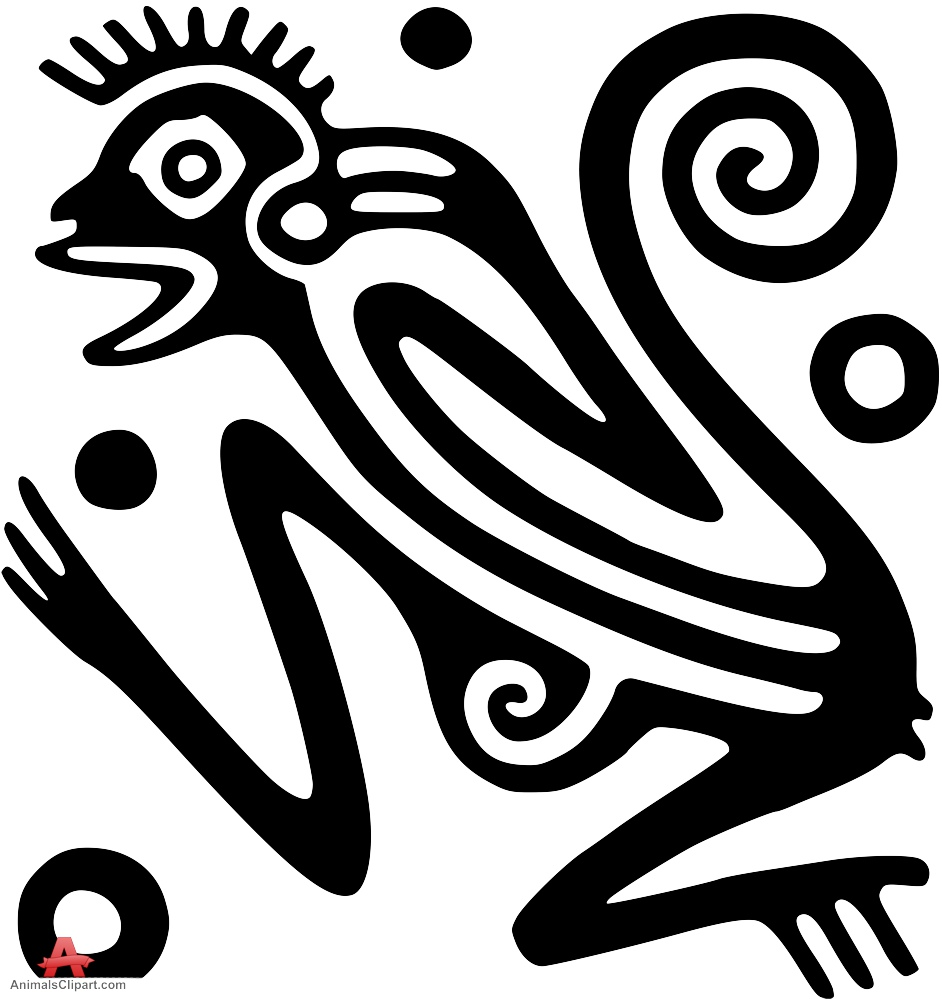 Aztec clipart animals. Monkey tattoo design free
