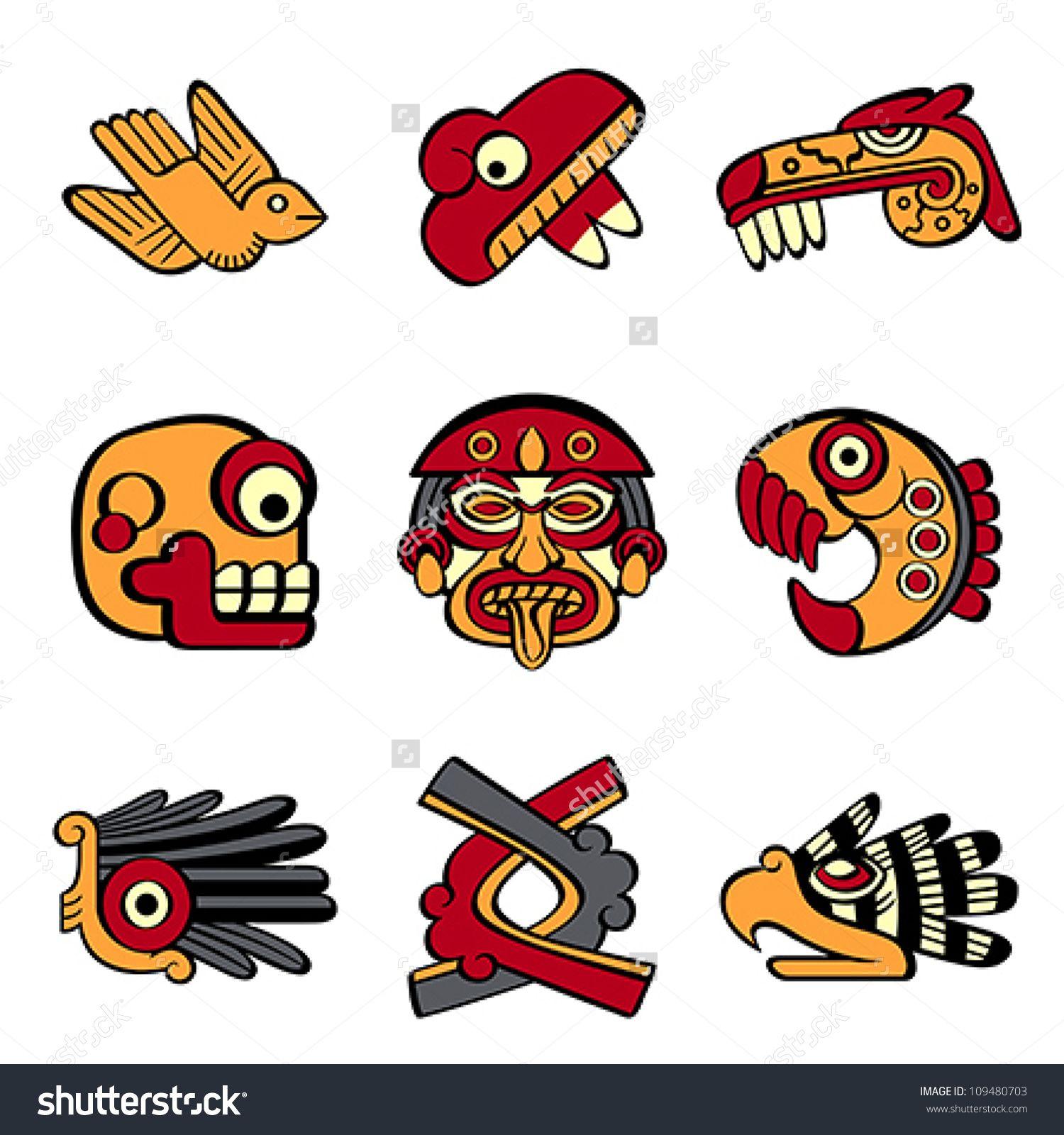 aztec clipart animals