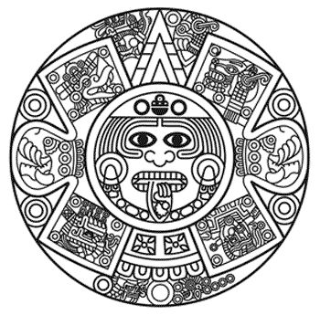 collection of simple. Aztec clipart aztec calendar