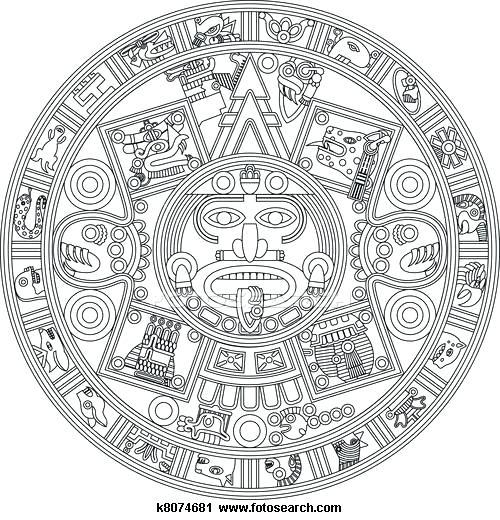 Coloring pages page the. Aztec clipart aztec calendar