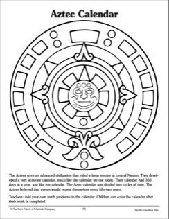 Aztec clipart aztec calendar. Calender drawing at getdrawings