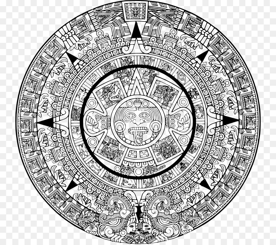 Aztec clipart aztec calendar. Cartoon png download free