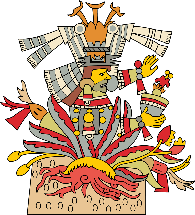 Mayahuel the aztec goddess. Clipart sun mayan