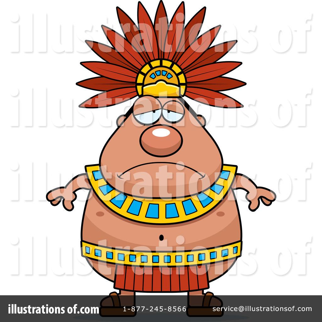 Aztec clipart aztec king. Illustration by cory thoman