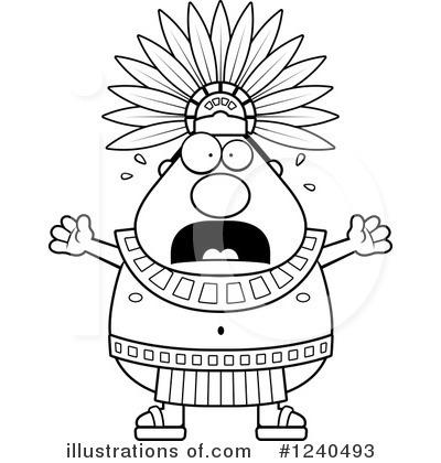 Illustration by cory thoman. Aztec clipart aztec king