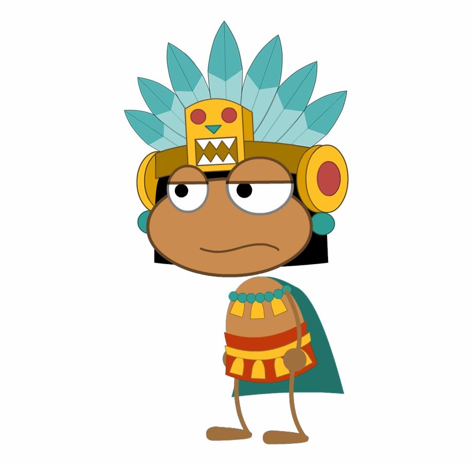Transparent cartoon free png. Aztec clipart aztec king