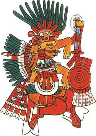 Supernatural powers and deities. Aztec clipart aztec religion