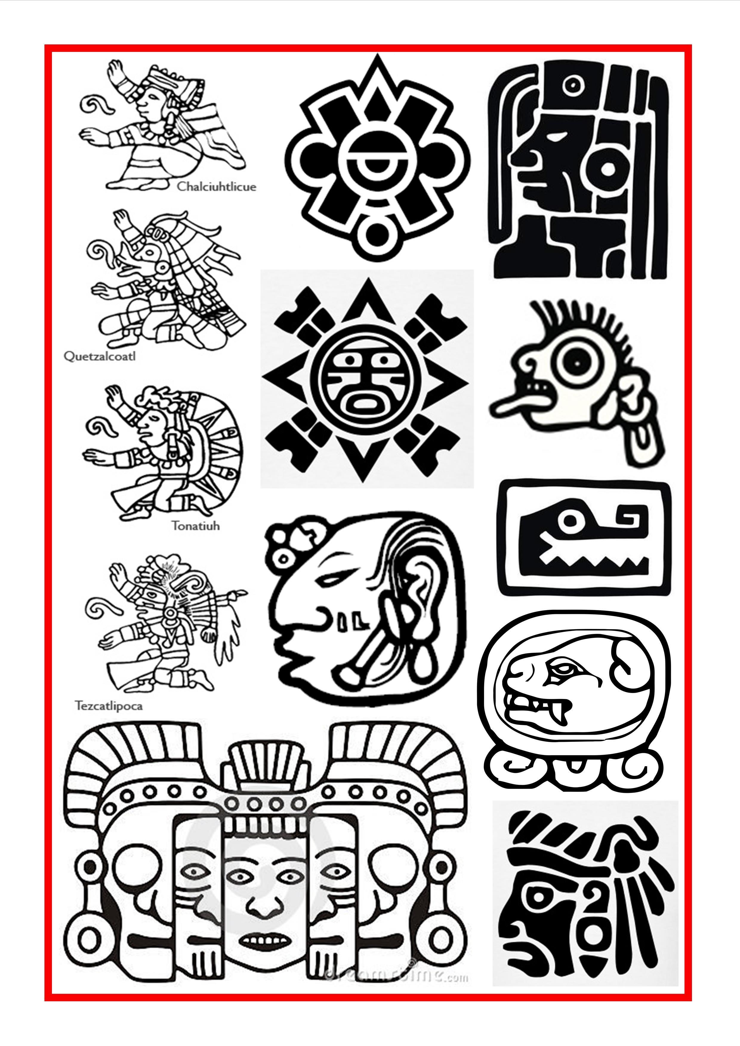 And mayan symbols tattoo. Aztec clipart aztec symbol