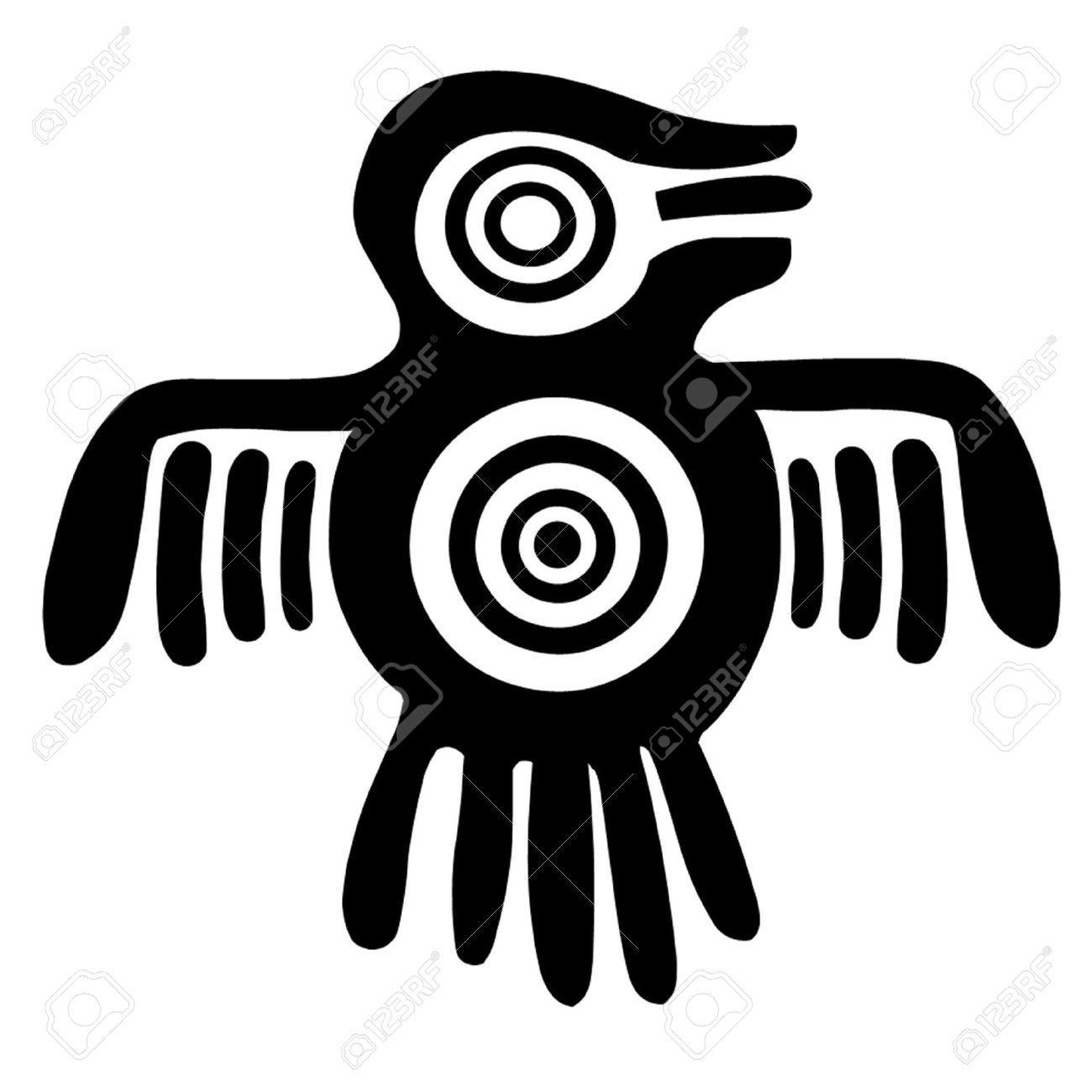 Aztec clipart aztec symbol.  spirit bird stock