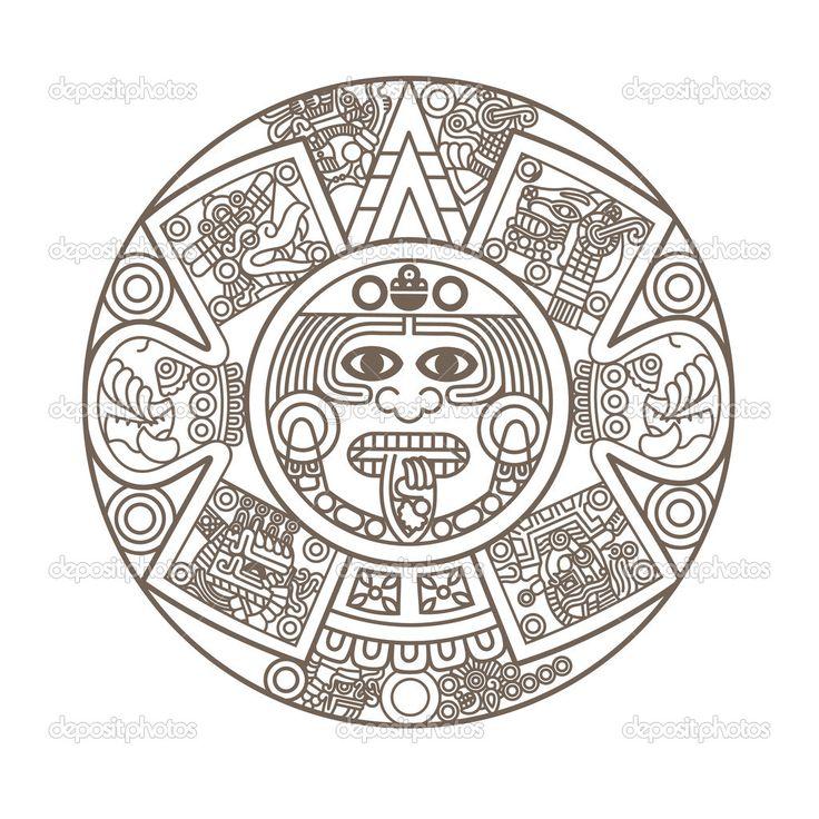 Aztec clipart aztec symbol.  collection of calendar