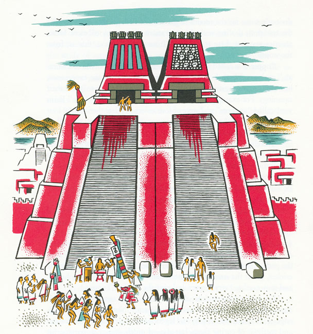 Mexicolore the symmetry of. Aztec clipart aztec temple