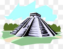 Aztec clipart aztec temple. Calendar png and psd
