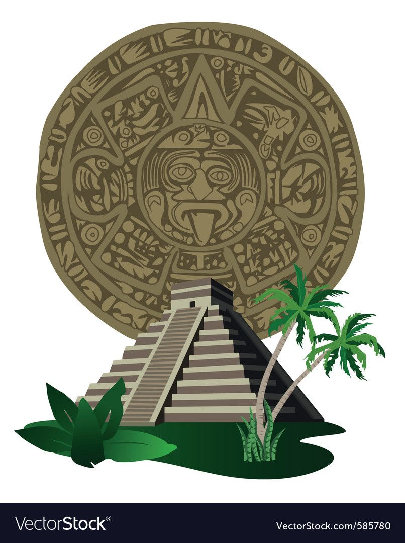 Pin by james on. Aztec clipart aztec temple