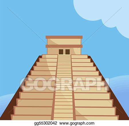 Clip art stock illustration. Aztec clipart aztec temple