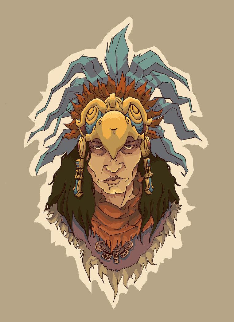 By thatjuanartist on deviantart. Aztec clipart aztec warrior