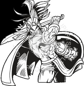 Aztec clipart aztec warrior. Fighting