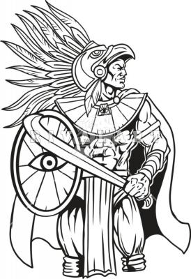 Drawing at getdrawings com. Aztec clipart aztec warrior