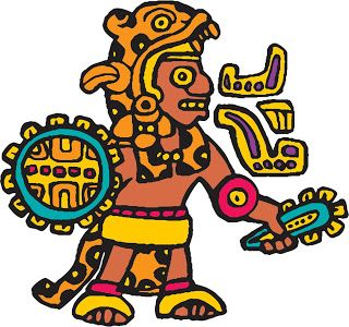 Library dise o in. Aztec clipart aztec warrior