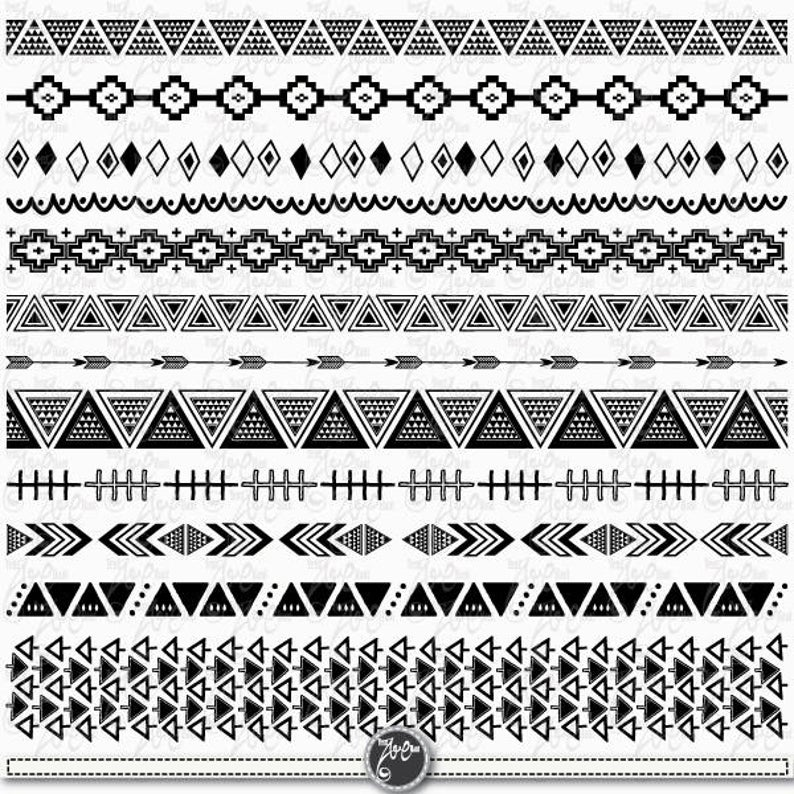 Borders tribal ribbon ethnic. Aztec clipart background