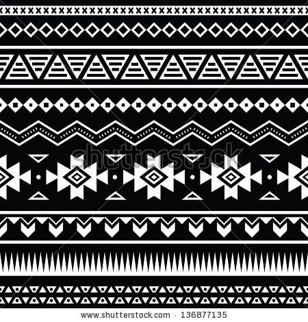 Aztec clipart background. Tribal pattern in black