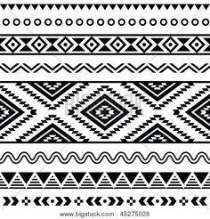 Tribal seamless pattern black. Aztec clipart background
