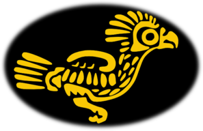 Aztec clipart bird. Gold clip art at