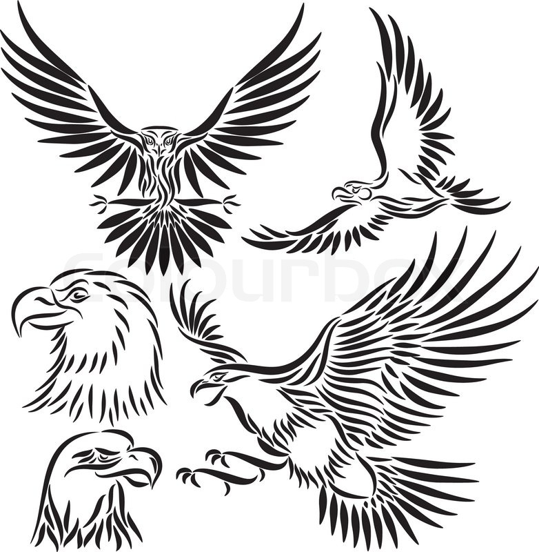 Aztec clipart bird. Eagle drawing at getdrawings