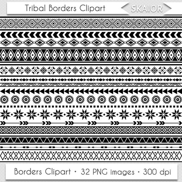 African clipart boarder. Tribal borders ethnic clip