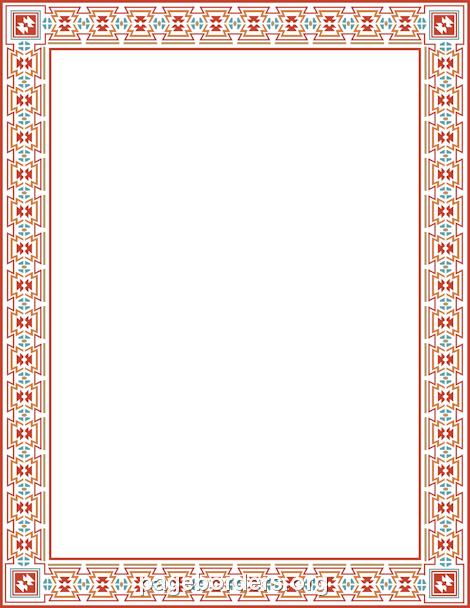 Aztec clipart border. Make recipe cards pinterest