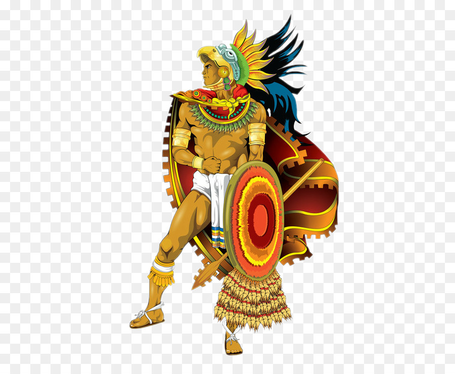 Eagle mexico warrior illustration. Aztec clipart cartoon