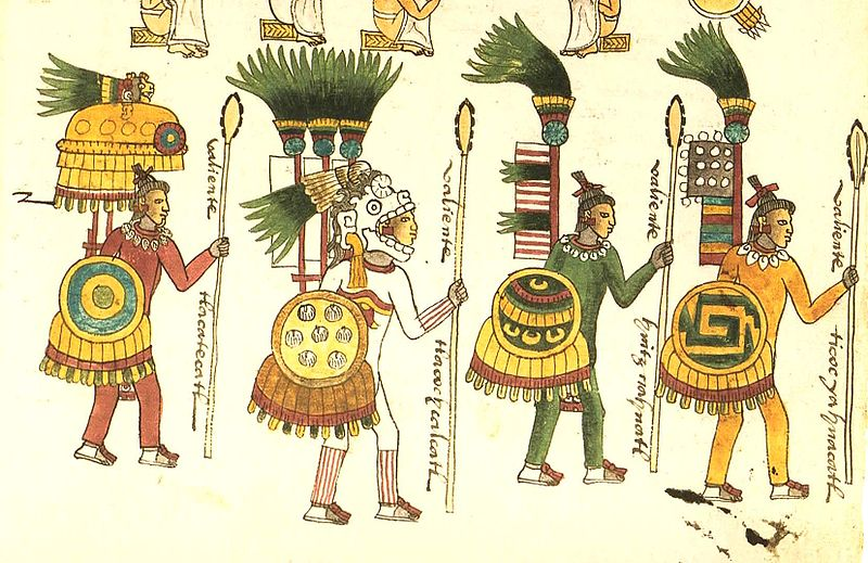 Warriors fighting for conquest. Aztec clipart clothes