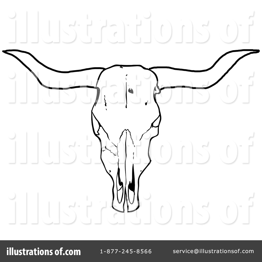 Bone clipart cow. Skull drawing at getdrawings