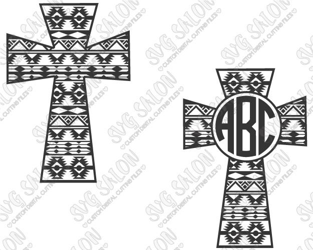 Christian clipart tribal. Aztec blanket cross circle