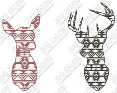 Hey i found this. Aztec clipart deer head