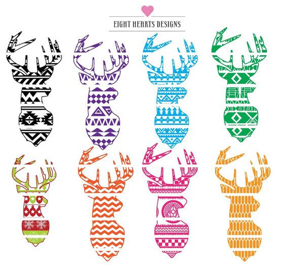 Aztec clipart deer head. Hey i found this