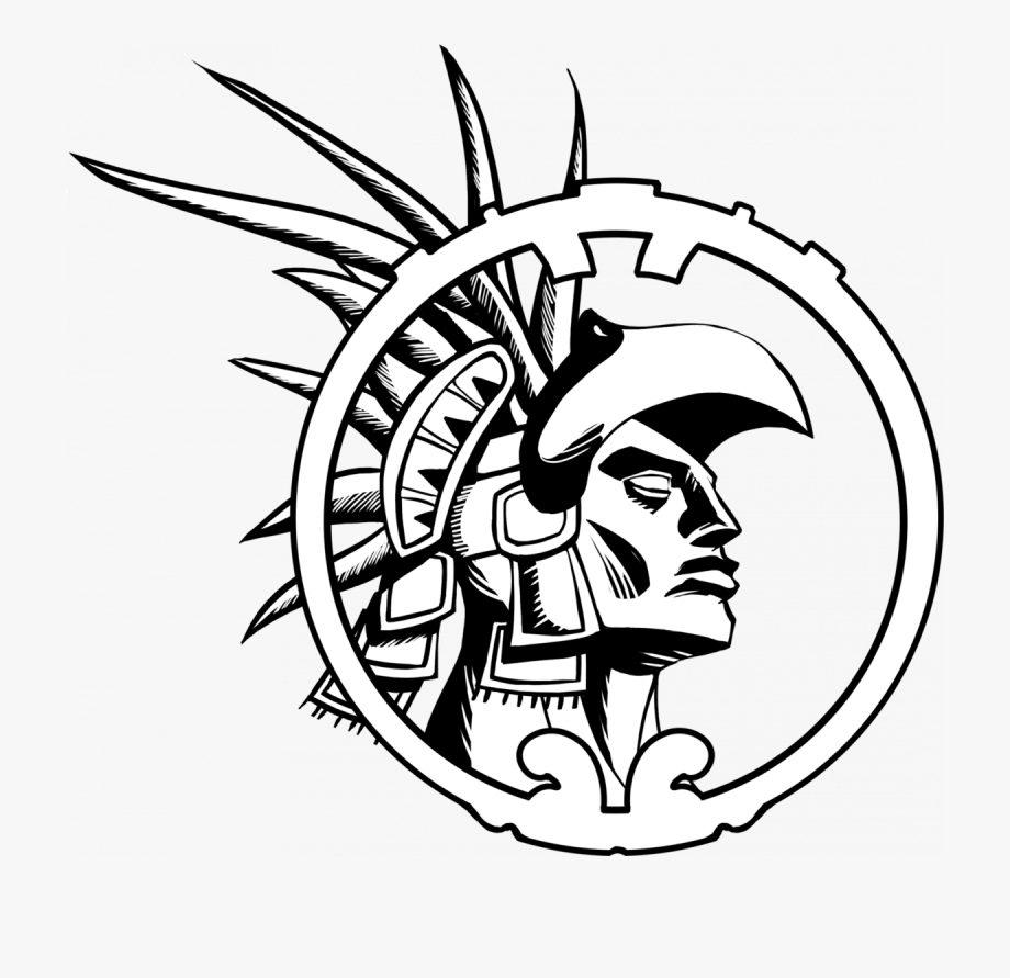 Aztec clipart drawing. Warrior mexican easy