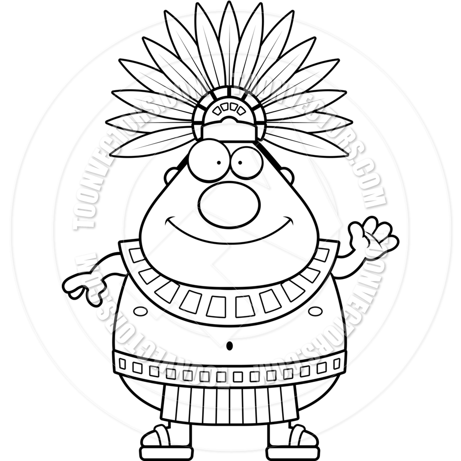 Aztec clipart drawing.  collection of king