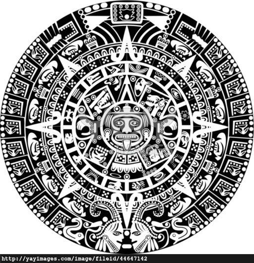 Coin pencil and in. Aztec clipart drawing