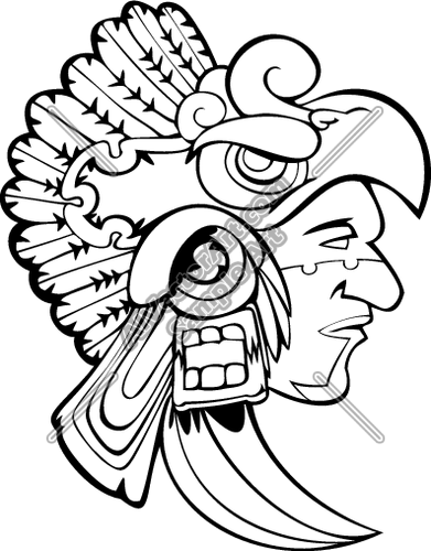 Drawings free download best. Aztec clipart drawing