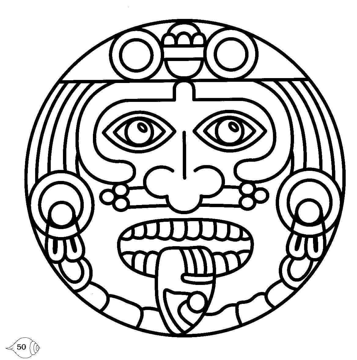 Ancient symbols and their. Aztec clipart face
