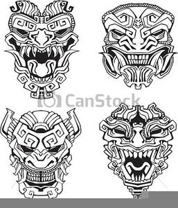X free clip art. Aztec clipart face