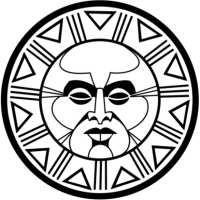 Aztec clipart face. Sun jedigems best sunshine